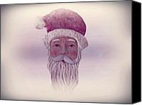 Father Christmas Digital Art Canvas Prints - Old Saint Nicholas Canvas Print by David Dehner