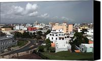 Puerto Rico Photo Canvas Prints - Old San Juan Canvas Print by John Rizzuto
