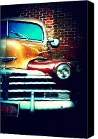 Old Cars Canvas Prints - Old Savannah Police Car Canvas Print by Dana Oliver