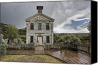Ghosts Canvas Prints - Old School House After Storm - Bannack Montana Canvas Print by Daniel Hagerman