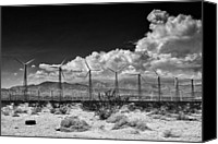 Ironworks Canvas Prints - OLD SCHOOL Palm Springs Canvas Print by William Dey
