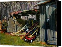 Thor Canvas Prints - Old Shed Berkshires Canvas Print by Thor Wickstrom