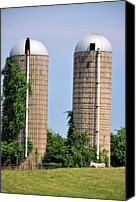 Country Scenes Canvas Prints - Old Silos Canvas Print by Jan Amiss Photography