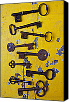 Peeling Canvas Prints - Old Skeleton Keys Canvas Print by Garry Gay