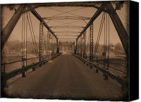 Scott Canvas Prints - Old Steel Bridge Canvas Print by Scott Hovind
