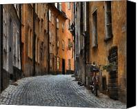 City Streets Canvas Prints - Old Stockholm Canvas Print by Joe Bonita