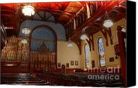 Public Square Canvas Prints - Old Stone Church -2 Canvas Print by David Bearden