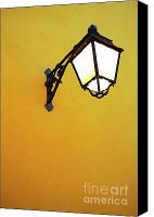 Old Wall Canvas Prints - Old Street Lamp Canvas Print by Carlos Caetano