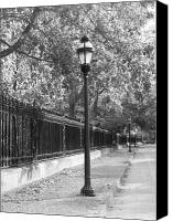 Fences Canvas Prints - Old Street Lights Canvas Print by Amanda Vouglas