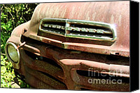 Old Things Canvas Prints - Old Studebaker Canvas Print by Pauline Ross