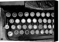 Typewriter Keys Photo Canvas Prints - Old Tech Low Tech Canvas Print by Mark Grayden