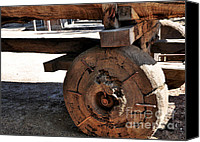 Old Wheel Canvas Prints - Old Timber Wheel Canvas Print by Kaye Menner