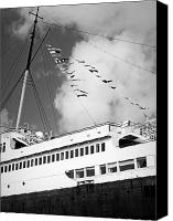 Cruise Ships Canvas Prints - Old Time Memories Canvas Print by Leah Moore