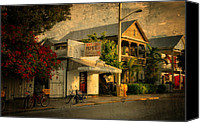 City Scapes Canvas Prints - Old Town -  Key West Florida Canvas Print by Thomas Schoeller