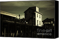 Old Town Canvas Prints - Old Town Sacramento California Cityscape Canvas Print by Christine Till