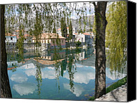 Town Pyrography Canvas Prints - old town Trebinje 2 Canvas Print by Milica  Perunicic
