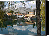 Town Pyrography Canvas Prints - old town Trebinje Canvas Print by Milica  Perunicic
