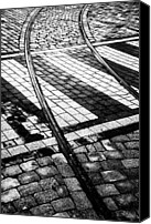 Cobbles Canvas Prints - Old Tracks Made New Canvas Print by Hakon Soreide