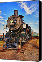 Locomotive Canvas Prints - Old train Canvas Print by Garry Gay