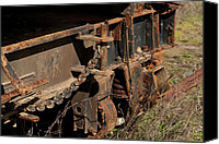 Mendocino Coast Canvas Prints - Old Train Hitch Canvas Print by Lorraine Devon Wilke