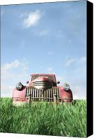 Field Digital Art Canvas Prints - Old Truck Canvas Print by Cynthia Decker