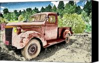 Old Trucks Canvas Prints - Old Truck Canvas Print by James Steele