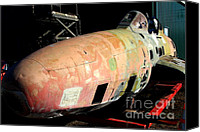 Us Navy Fighters Canvas Prints - Old US Fighter Jet Fuselage . 7D11252 Canvas Print by Wingsdomain Art and Photography
