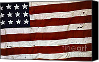 Patriotism Photo Canvas Prints - Old USA flag Canvas Print by Carlos Caetano
