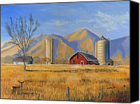 Cloud Painting Canvas Prints - Old Vineyard Dairy Farm Canvas Print by Jeff Brimley
