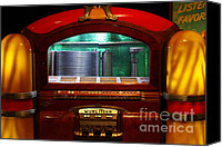 Ipod Canvas Prints - Old Vintage Wurlitzer Jukebox . 7D13100 Canvas Print by Wingsdomain Art and Photography