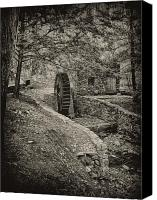 Belmont Canvas Prints - Old Water Wheel Canvas Print by Bill Cannon