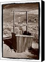 Well Canvas Prints - Old Well Bodie Ghost Twon California Canvas Print by Steve Gadomski