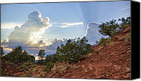 Dan Turner Canvas Prints - Old West Sunset Canvas Print by Dan Turner