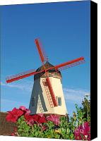 Old Mills Canvas Prints - Old Windmill in Solvang California Canvas Print by Paul Topp