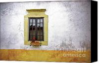 Peeling Canvas Prints - Old Window Canvas Print by Carlos Caetano
