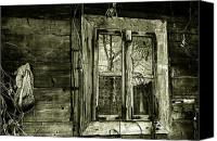 Cabin Window Canvas Prints - Old window Canvas Print by Emanuel Tanjala