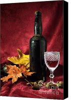 Xmas Photo Canvas Prints - Old Wine Bottle Canvas Print by Carlos Caetano