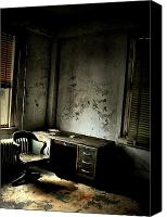 Abandoned Structures Canvas Prints - Old Work Canvas Print by Emily Stauring