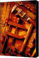 Monkey Canvas Prints - Old Worn Tools Canvas Print by Garry Gay