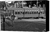 Trolley Canvas Prints - Old Ybor City trolley Canvas Print by David Lee Thompson