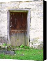 Old Mill Scenes Canvas Prints - Old Yingling Flour Mill Door Canvas Print by Don Struke
