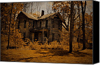 "\\\""haunted House\\\\\\\"" Canvas Prints - Olden Golden Canvas Print by Emily Stauring"