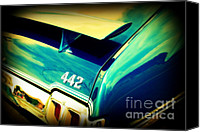 Auction Canvas Prints - Oldsmobile 442 Canvas Print by Susanne Van Hulst