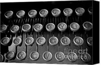 Eirik Lund Canvas Prints - Oldstyle keyboard Canvas Print by Eirik Lund