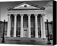 Crosswalk Canvas Prints - Ole Miss Lyceum Black and White Canvas Print by Joshua House