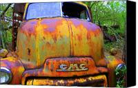Junk Canvas Prints - Ole Rusty Full Frontal Canvas Print by Dana  Oliver