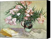Tables Canvas Prints - Oleanders and Books Canvas Print by Vincent van Gogh
