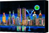 New York Skyline Canvas Prints - Olive NY Canvas Print by Tim Williams