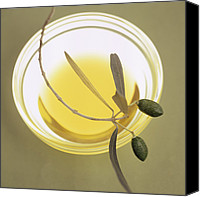 Glass Oil Dish Canvas Prints - Olive Oil Canvas Print by Cristina Pedrazzini