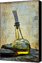 Olive Oil Canvas Prints - Olive Oil Canvas Print by Robin-lee Vieira